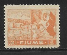 Fiume, Scott # 39 Mint Hinged Sailor Raising Flag, 1919 - 8. WW I Occupation