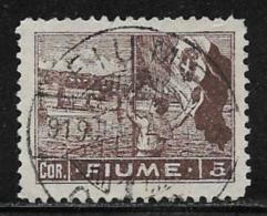 Fiume, Scott # 42 Used Sailor Raising Flag, 1919, Expert Signed,  CV$40.00 - 8. WW I Occupation