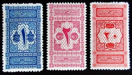 ARABIE SAOUDITE HEJAZ 3 Timbres Taxe 1917 Y&T: 1 2 Et 3 (neufs Avec Charnière) - Arabie Saoudite