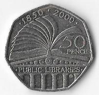 United Kingdom 2000 50p Public Libraries (C) [C242/1D] - 1971-… : Decimal Coins
