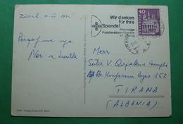 1972 Albania. SWITYERLAND Airmail Postcard Sent From  ZURICH To Tirana - Albania