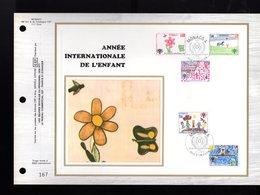 """"""" ANNEE INTERNATIONALE DE L'ENFANT """" Sur Feuillet CEF Soie Nté à Tirage Limité (3000 Ex) De 1979 Parfait état. FDC - Enfance & Jeunesse"""