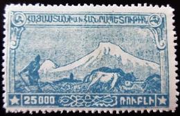1921 Arménie Yt 117.Mount Ararat And Plowman  . Neuf Trace Charnière - Arménie