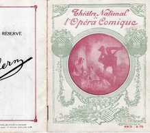 PROGRAMME OPÉRA COMIQUE 4/12/1918 LAKMÉ LÉO DELIBES BROTHIER DAVID DUPRÉ VAURS TIPHAINE +DANSE HINDOU VRONSKA HOLTZER - Programmes