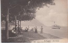 CPA Saint-Gingolph - Lac Léman (avec Bateau Et Jolie Animation Sur La Rive) - Autres Communes