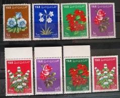 Y31 -  Yemen AR 1964 Mi. 390/7 Coplte Set 8v. MNH - Flowers - Yemen