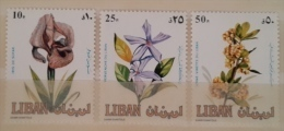 11 Lebanon 1984 SG 1293-1295 Flowers - Complete Set MNH - Lebanon