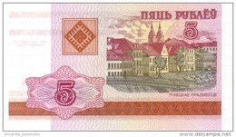 BELARUS 5 PУБЛЁЎ (RUBLES) 2000 P-22a UNC [BY122a] - Belarus