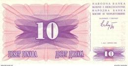 BOSNIA AND HERZEGOVINA 10 DINARA 1992 P-10 UNC  [BA113a] - Bosnia And Herzegovina