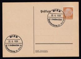 Deutsches Reich Brief Ungelaufen Sonderstempel 1939 Wien Lot 442D - Deutschland