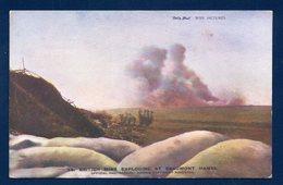 Daily Mail. War Pictures. British Mine Exploding At Beaumont-Hamel. Mine Anglaise Explosant à Beaumont-Hamel (80) - Guerre 1914-18