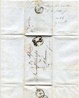 République Tchèque / France - Lettre Préphilatélie De 1852 - Prague Vers Beaune - Tschechoslowakei/CSSR