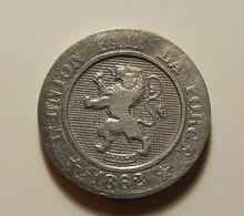Belgium 10 Centimes 1862 Varnished - 1831-1865: Léopold I