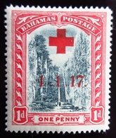 1917 Bahamas Yt 52 . Overprinted In Red .  Semi Postal Stamps . Neuf Trace Charnière - 1859-1963 Colonie Britannique