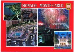 Principauté De Monaco. Monte-Carlo. Vues Nocturnes De La Principauté. - Monaco