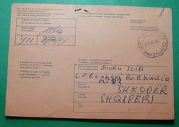 1991 Albania ITALY AVIS DE RECEPTION Sent From CASTELLEONE To SHKODER - Albanien