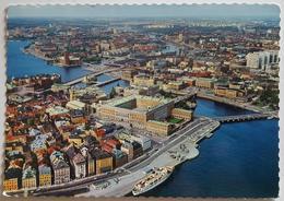 STOCKHOLM - Sverige - Flygpanorama - Kungl - Slottet I Centrum - Royal Palace  VG - Svezia