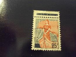 """1959  Timbre Oblitéré N°1216     """" Marianne à La Nef      """" Avec Bord De Feuille    Net 1 - France"""