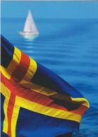 Aland Postcard Flag - Sea - Aland