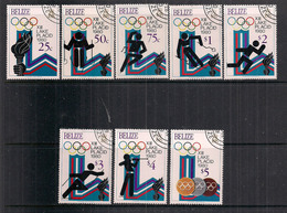 BELIZE 1979   OLIMPIADI   YVERT 447-454  USATA  VF - Belize (1973-...)