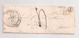 """AUTUN  : Lettre De 1844 : Boite Rurale D  """"  Brion""""  ( Identifiée ) : Saône Et Loire : - Marcophilie (Lettres)"""
