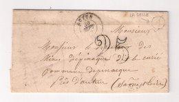 """AUTUN  : Lettre De 1852 : Boite Rurale A  """"  La Selle""""  ( Identifiée ) : Saône Et Loire : - Marcophilie (Lettres)"""