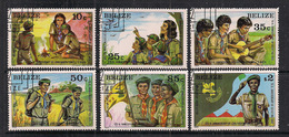 BELIZE 1982  SCOUT  YVERT  588-593  USATA  XF - Belize (1973-...)