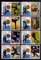 BELIZE 1980 GIOCHI OLIMPICI  YVERT  487-494 CON BANDELLA  USATA  BF - Belize (1973-...)