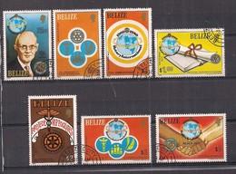 BELIZE   1981   ROTARY INTERNAZIONALE   YVERT  512-518    USATA   XF - Belize (1973-...)