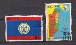 BELIZE   1982   INDIPENDENZA NAZIONALE   YVERT 572-573   USATA   XF - Belize (1973-...)