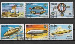 BELIZE  1983 PRIMA ASCENSIONE DELL'UOMO NELL'ATMOSFERA YVERT. 636-641 USATA VF - Belize (1973-...)