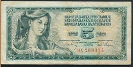 °°° JUGOSLAVIA - 5 DINARI 1965 °°° - Jugoslavia