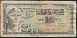 °°° JUGOSLAVIA - 1000 DINARA 1981 °°° - Jugoslavia