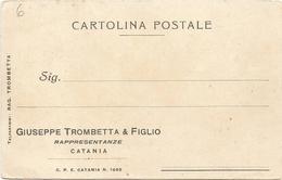 W862 Cartolina Commerciale - Giuseppe Trombetta Rappresentanze - Catania / Non Viaggiata - Negozi