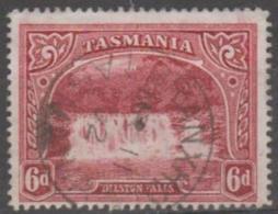 TASMANIA - 1899 6d Waterfall Pictorial. Branxholm Postmark. Scott 93. Used - 1853-1912 Tasmania