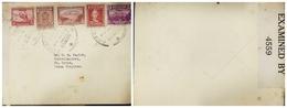 O) 1942 ECUADOR, CENSORSHIP-EXAMINED, RARE DESTINATION  TO ISLAS VIRGINES, , COLUMBUS SC 344 15c-MT CHIMBORAO SC 407 30c - Ecuador