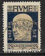 Fiume, Scott # 90 Used D'Annunzio, 1920 - 8. WW I Occupation