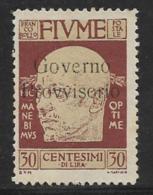 Fiume, Scott # 139 Unused No Gum D'Annunzio Overprinted, 1921 - 8. WW I Occupation