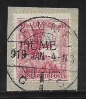 Fiume Scott # B3 Used Semi Postal, On Piece, 1918 - Fiume
