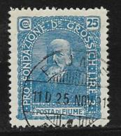 Fiume Scott # B16 Used Semi Postal, Grossich, 1919 - Fiume