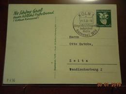 Entier Postal D Allemagne De 1939 (au Dos Carnaval De Cologne) - Deutschland