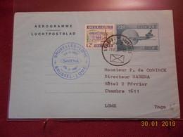 Aerogramme De Belgique De 1987 ( 1ere Liaison Aerienne Bruxelles-Lome) - Stamped Stationery