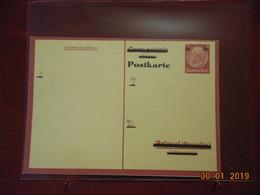 Entier Postal D Allemagne Surchargé - Deutschland