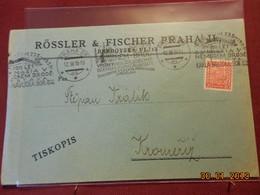 Lettre De 1935 Envoyée De Prague (belle Oblitération) - Czechoslovakia