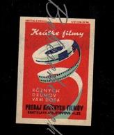 D227 CZECHOSLOVAKIA  1961 Kratky Film Bratislava , Molotov Ova Ulica 22 Short Films Audio Audiovisual Records - Zündholzschachteletiketten