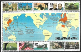 US  1991, 1992, 1993, 1994, 1995  50 Year Anniversary Sets Of 10   MNH  2016 Scott Value $52.50 - 2. Weltkrieg