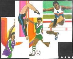 US 1983  Sc#C101-4  28c Summer Olympics Set On 4 Maximum Cards - Cartoline Maximum