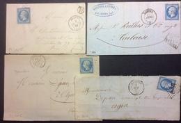 """PL105 Lot Gramat BR """"D"""" + Cahors """" Après Le Départ"""" Molinier Et Serres + Gourdon X 2 - Postmark Collection (Covers)"""