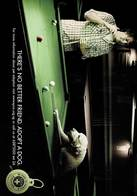 24A : Dog Playing Snooker Or Billiard Advertisement Postcard - Dogs