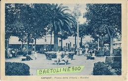 Lazio-roma-ladispoli Piazza Della Vittoria Giardini Animatissima Veduta Anni 40 ( F.picc./v.retro) - Autres Villes